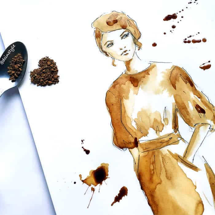 coffee painting by Elena Fay