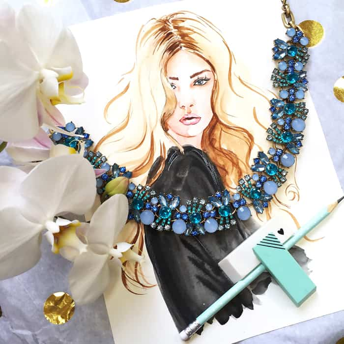 fashion illustrator Elena Fay, Watercolor artist, fashion illustration courses