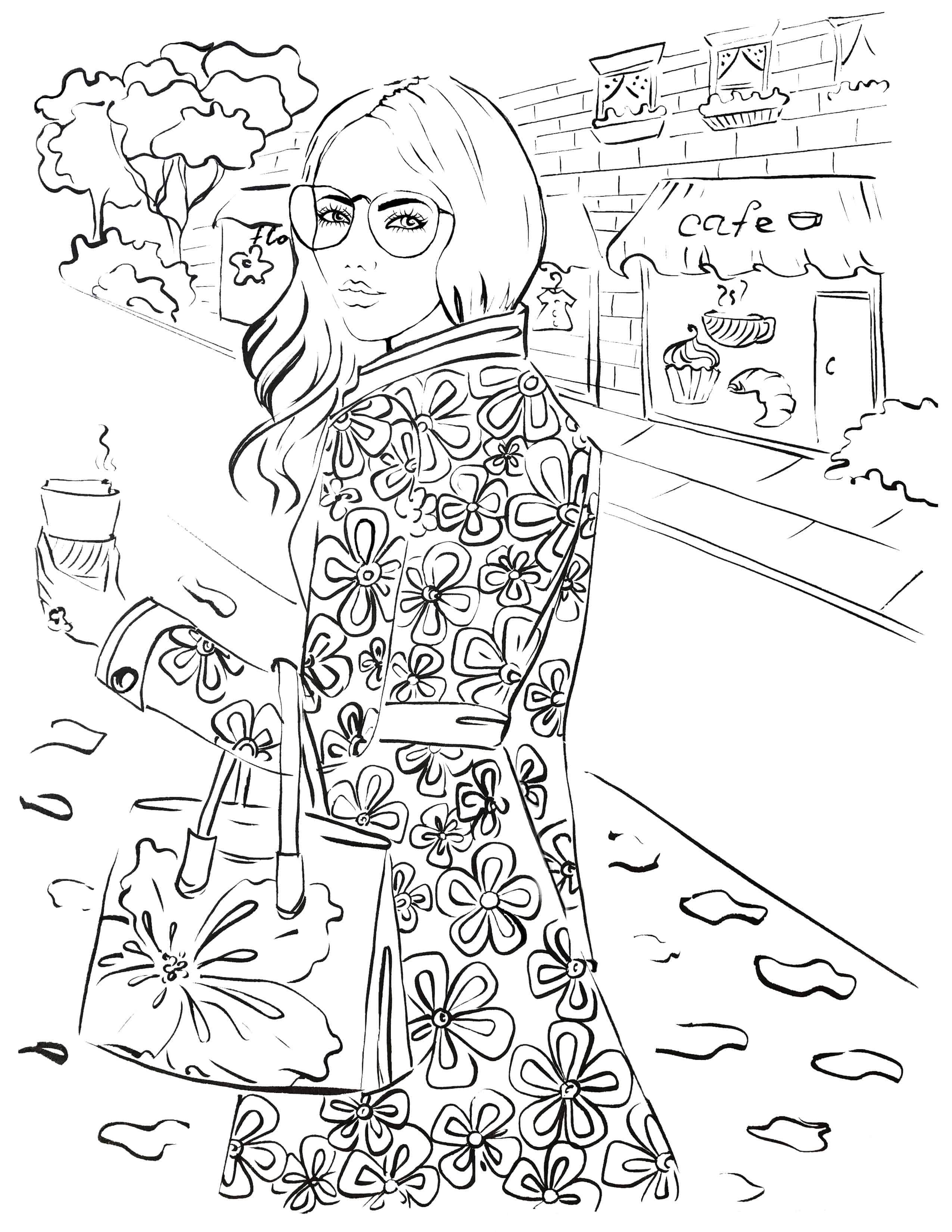 Fashion coloring page archives elena fay for Fashion coloring pages