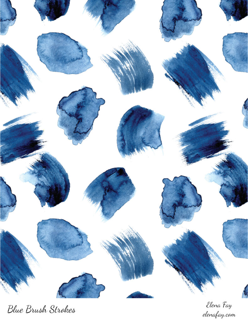 watercolor marks