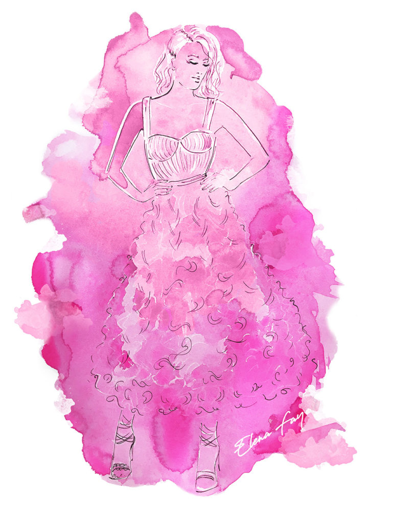 fashion illustration by Elena fay