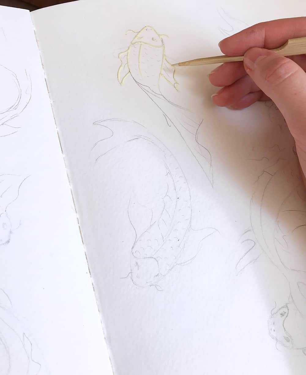 art tutorial, masking fluid with watercolor