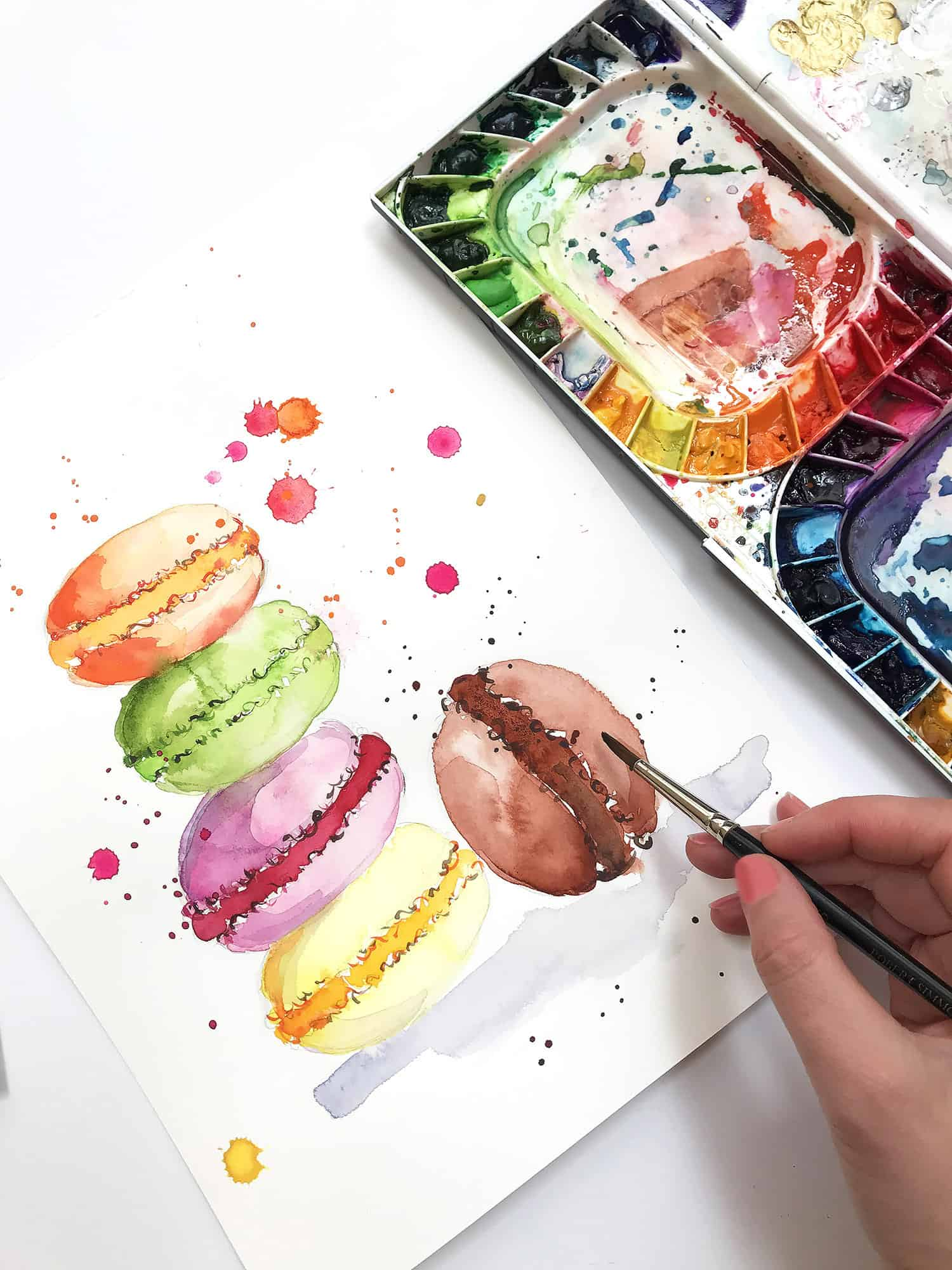 Watercolor for Beginners. Watercolor Tips for Beginners. How to paint sweet treats with Watercolor